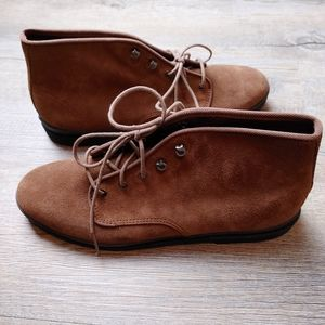 KEDS | Ladies Brown Leather Lace Up Boots Size 9